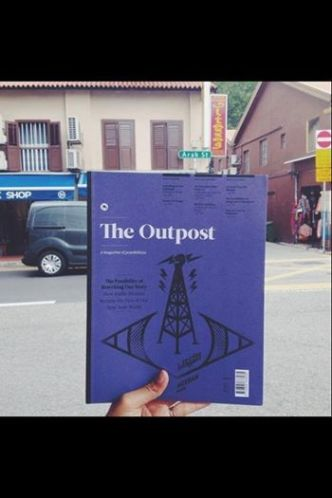The fourth issue of The Outpost somewhere in Malaysia (photo via Facebook)