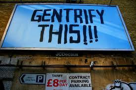 Gentrify this!! graffiti in London (foto via Flickr)