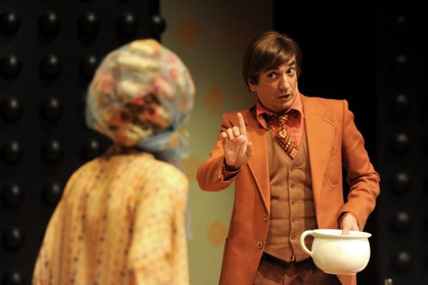 Arturo Cirillo al Teatro Mercadante di Napoli (foto via @Quartaparetepress)