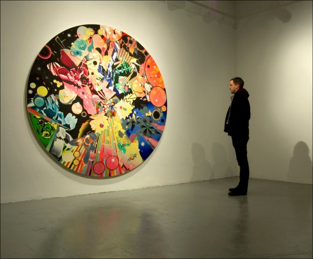 'Splinternet La Fantasia Tondo Gallery Installation View' (photo via @petergerakaris)