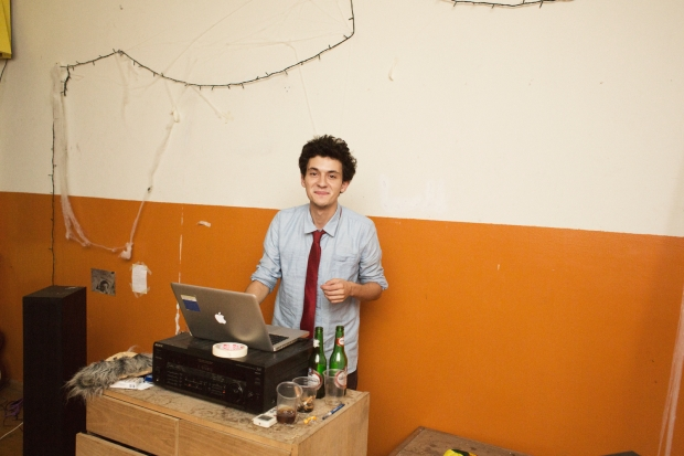 The dj at The Kindergarten Collective (photo courtesy of Mie Brinkmann)