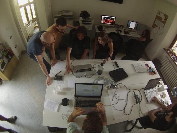 La redazione di Radio Rbe (foto courtesy di @Susanna Ricci)