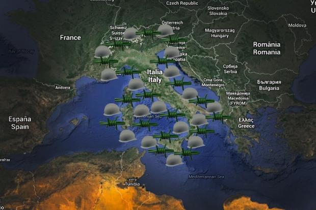 Invasione dell'Italia (grafica di Armando Aiello - http://www.aa-jr.com/)