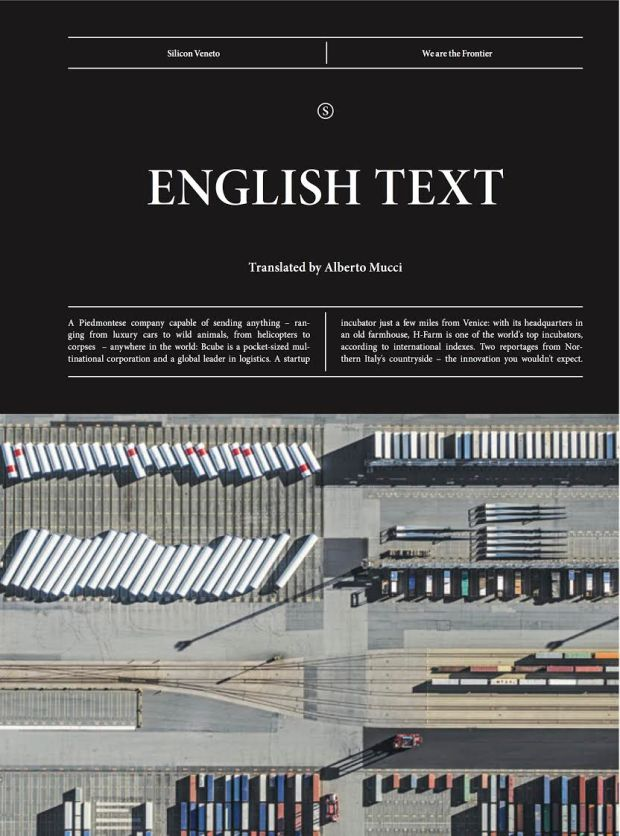 The cover of Rivista Studio's english section (photo via @Rivista Studio)