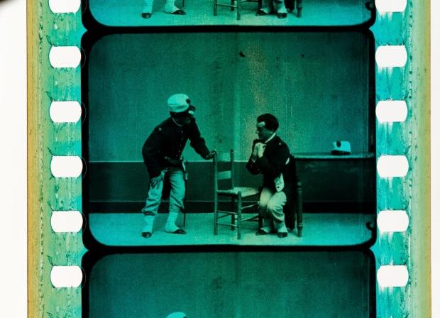 Dettaglio di una pellicola in via di restaurazione (immagine di @ImmagineRitrovata)