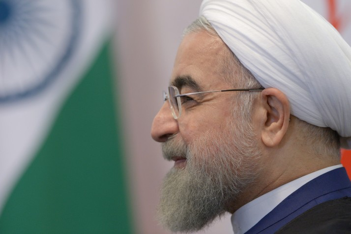 Rouhani at the BRICS summit in Russia, 2015