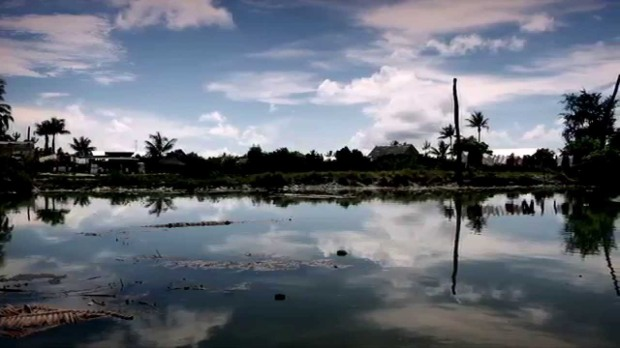 Kiribati's coastline (photo via Unicef)