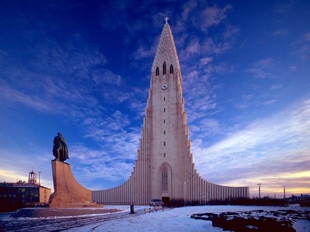 Protestant Carhedral in Iceland